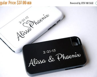 ON SALE iPhone 5, iPhone 6 Case, 6 Plus Case, Personalized Phone Case, Couples Matching Phone Cases