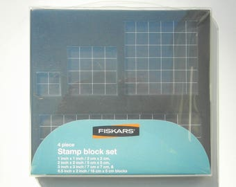 Fiskars 4 Piece Clear STAMP BLOCK SET