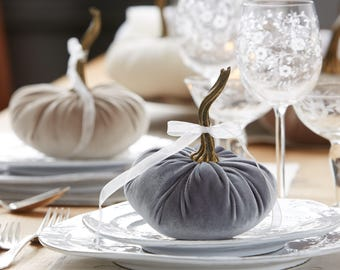 Scented Velvet Pumpkin, GRAY