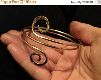 End of Summer SALE Spiral double wrap bangle