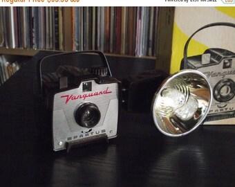 SALE 25% OFF Mid Century Spartus Vanguard Camera with Flash & Original Box