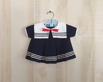 Vintage sailor baby dress