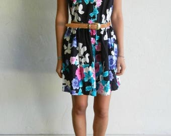 40% OFF CLEARANCE SALE Black Floral Print Romper