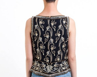 40% OFF The Vintage Lux Sequin Cocktail Tank