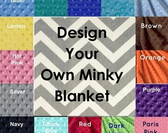 Handmade Minky Adult Blanket, Personalized Blanket Silver Gray Chevron Blanket, Custom Blanket, Twin Blanket, Minky Throw Blanket, Gift Idea