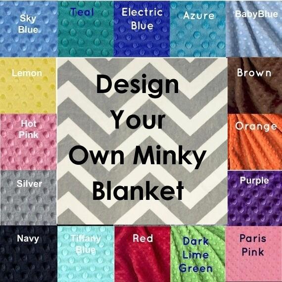 Handmade Minky Adult Blanket, Personalized Blanket Silver Gray Chevron Blanket, Custom Blanket, Twin Blanket, Minky Throw Blanket, Gift Idea