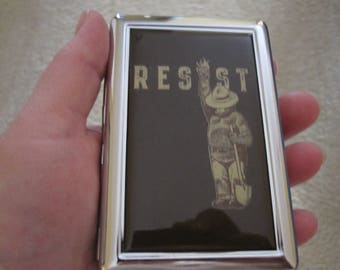 Resist Cigarette or Card Case or Wallet or Tin
