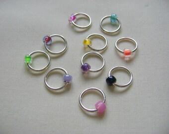 Rainbow Snag Free Stitch Markers - brights