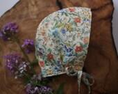 floral baby bonnet | colorful baby bonnet | sun hat | baby bonnet | baby hat | flower hat | baby flower bonnet | sun bonnet