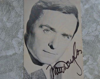 Mike Douglass Autograph Original Autograph Studio Photo Postcard FREE Shipping
