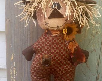 Stumpkin scarecrow
