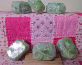 Kryptonite Bubble Rock Shea Butter Soap