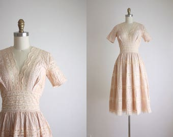 1960s cotton lace dress