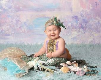 little mermaid, baby mermaid, toddler mermaid costume
