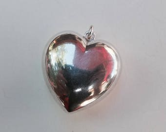 BIG HEART in Sterling Silver 80s