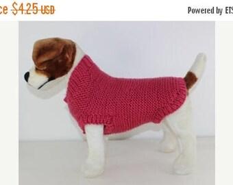 40% OFF SALE Chunky Garter Stitch Dog Coat knitting pattern by madmonkeyknits - instant digital pdf download knitting pattern