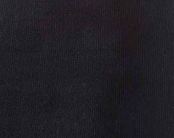 "SALE Black Featherwale Corduroy Fabric  --  58"" Wide"
