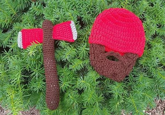 Lumberjack First Birthday, Lumberjack Party Supplies, Lumberjack Baby, My First Halloween Outfit, Baby Beard Beanie, Baby Beard Hat, Costume