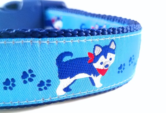 The Little Husky - Dog Collar / Large Dog Collar / Adjustable / Siberian Husky / Alaskan Malamute / Akita Inu / Utonagan / Alaskan Klee Kai