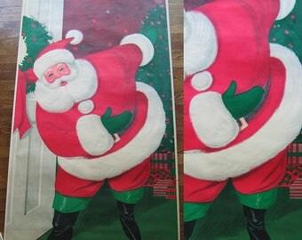 Vintage Sears and Roebuck 1962 Santa Poster