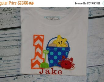 ON SALE PERSONALIZED Beach Birthday Shirt  Monogrammed 1, 2, 3, 4, 5, birthday Pool Party
