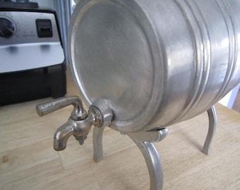 Norwegian Pewter Vintage Bar Keg/Barrel