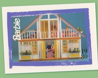 """Barbie Collectible Trading Card - """"Dream House Furnished"""" 1980 - Card No. 216 for Barbie collectors, dioramas, Barbie House Collectible"""