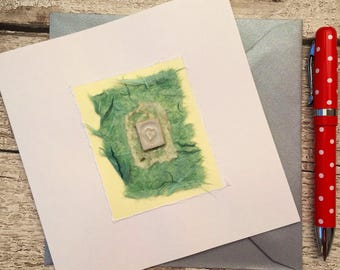 Bespoke, hand made card, Ceramic card/gift. Blank for all occasions.