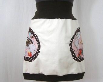 Skirt Harada ball off white and Brown