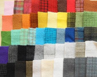 Teinte de vente à la main en laine feutrée des chutes lot numéro 1302 quilting Acres
