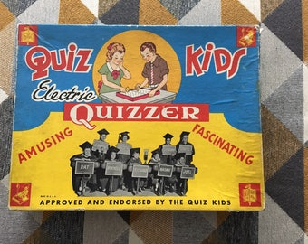 Vintage 1940s Quiz Kids Electric Quizzer Board Game