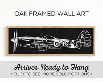 Vintage Fighter Airplane Sign - Airplane Print on Wood - Boys Room Wall Ar