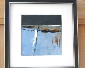 Racines 7 : Oil painting with the knife on linen canvas with wooden frame ..... abstract of racines !!!!
