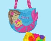 Child's Stephen Joseph MERMAID Beach Tote/Beach Bag