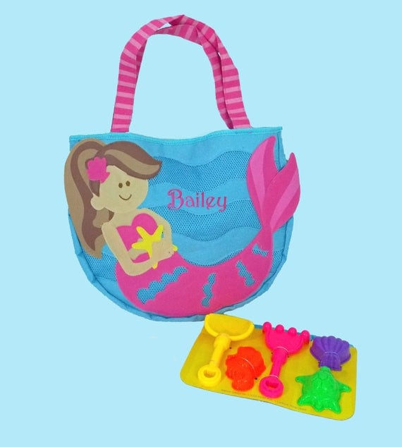 Child's Stephen Joseph MERMAID Beach Tote/Beach Bag