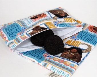 Moana Sandwich and Snack Bag Set, Reusable