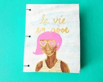 La Vie En Rose Marble Notebook