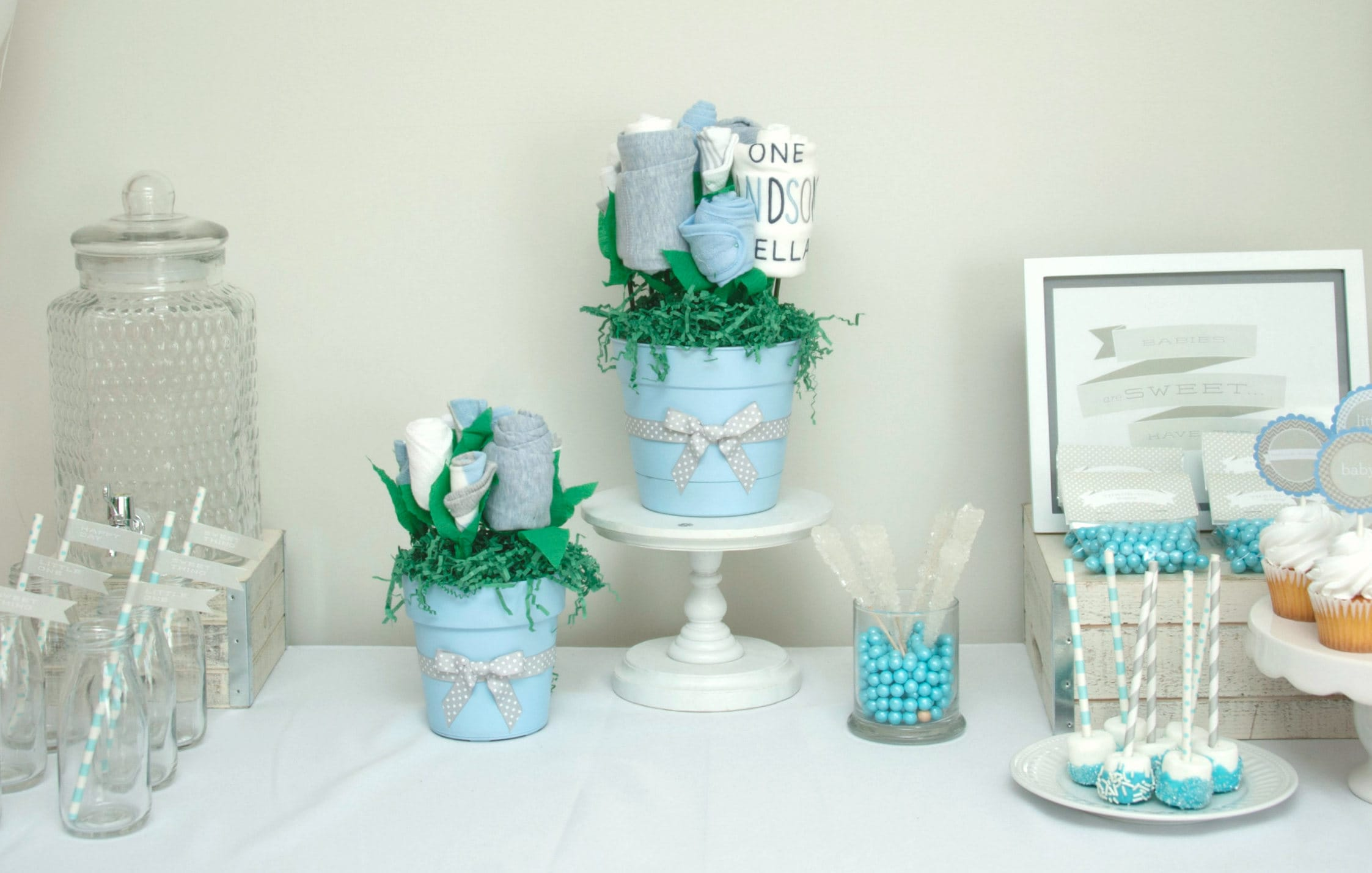 Baby shower ideas baby shower decorations boy baby boy for Baby shower decoration set