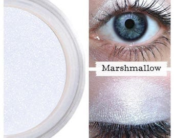Eye Shimmer, Platinum Ice White, for Face Eyes Body, Brighten, Luster Eyes, Brilliant Color, Intense Pearl, Loose Pigment, Marshmallow