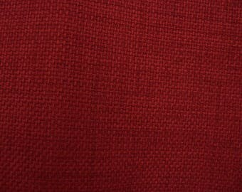 """Patriot Cherry Red Fabric by the Yard,Richloom, 52"""" Wide,Upholstery,Pillows,Crafts, Bags,Cushion Use. Free Shipping."""
