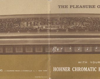 The Pleasure of Music with Hohner Chromatic Harmonicas 1960 Booklet Learn to Play