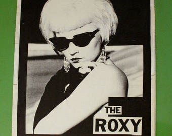 Dirty Blonz 1980s Concert Poster - The Roxy - Hair Metal Rock Band - Vintage - Boxing Style - Rare