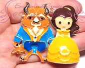 "2x2"" Belle and Beast Inspired Charm, Yellow Ball Gown, Chunky Pendant, Keychain, Bookmark, Zipper Pull, Chunky Jewelry, Purse Charm"