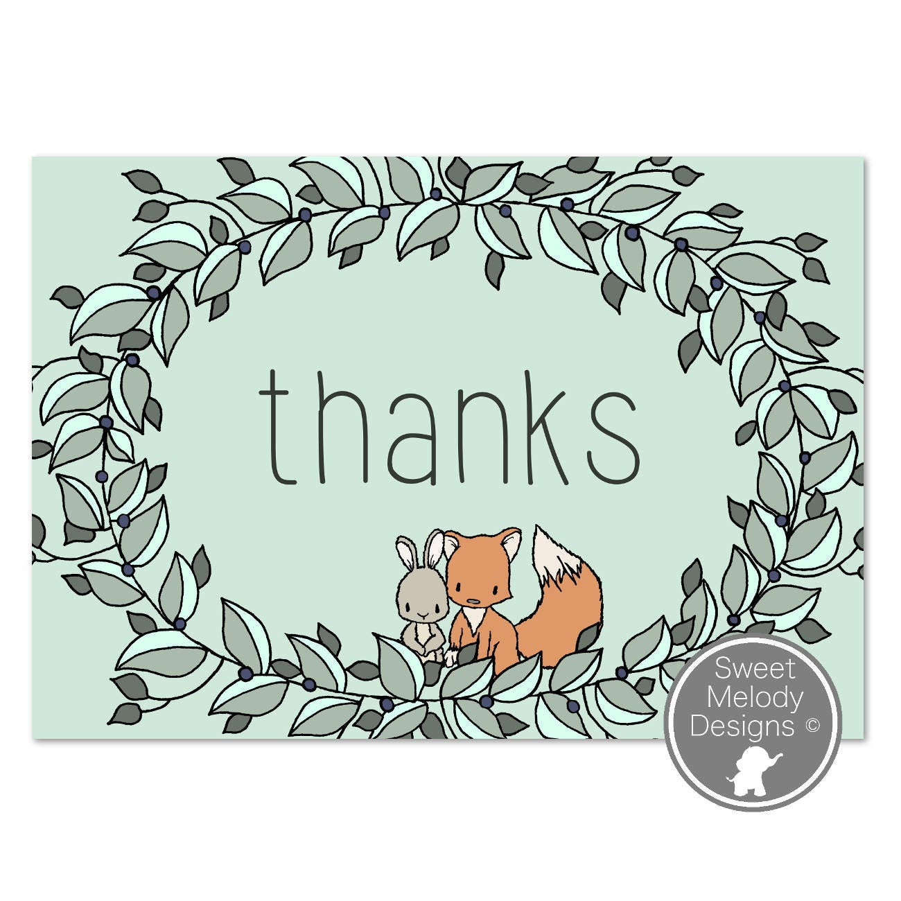 printable thank you cards instant download pdf blank cards