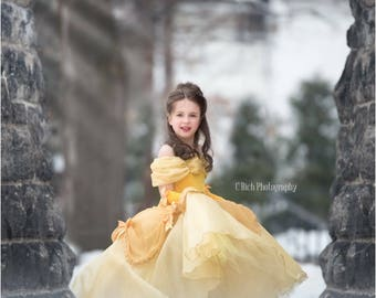 Belle inspired princess dress  size 2t ball gown