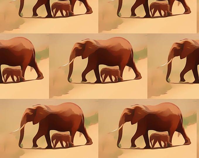 African Elephant Fabric