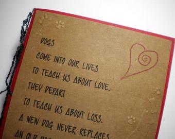 DOG'S LOVE - Handmade Sympathy Greeting Card (pet sympathy, pet lover)