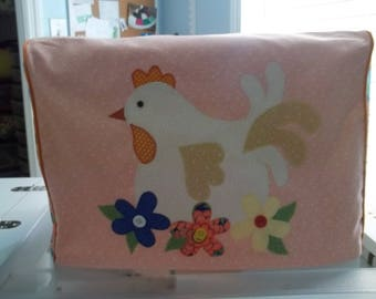Coral Hen Sewing Machine Cover