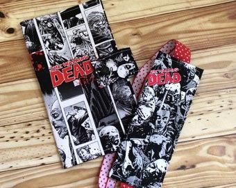 Zombie Walkers Pen Case, do not open dead inside, pencil case, planner accessories,  planner pockets, FREE GIFT  *ready to ship*