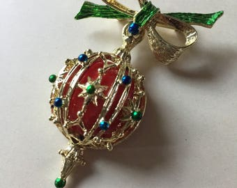 Vintage Christmas Ornament Brooch Pin
